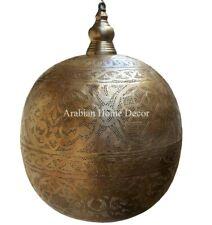 "Handcrafted Moroccan Bronze Brass 16"" Pendant Ceiling light Chandelier Lamp"
