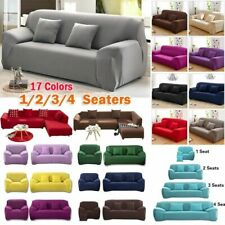 1-4 Seater Sofa Covers Slipcover Stretch Settee Protector Couch Multi-Colour