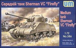 Unimodel 386 - 1/72 US Sherman VC Firefly WW II Plastic Model Kit 85 mm UM 386