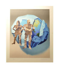 Signed Color Lithograph by Yrjo Edelmann - Paper Figures Paper Planet