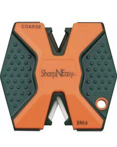 Accusharp Sharp N Easy Blaze Orange Two Stage Pocket Knife Sharpener Made In USA