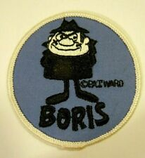 "BORIS BADENOV Embroidered Iron-On Patch - 3"" - Rocky & Bullwinkle- Pat Ward"