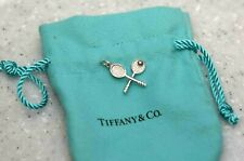 Tiffany & Co .925 Sterling Silver Tennis Racket Charm Pendant With Pouch
