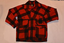 VINTAGE 1940s-50s PLAID WOOLRICH WOOL MACKINAW JACKET! DOUBLE SLEEVES/POCKETS 40