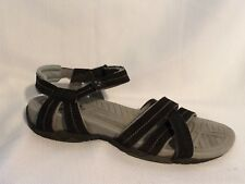 Bass H2O Shoes Sport Sandals Women 5.5 M 4478-001 Black Gray Water Trail Strappy