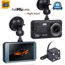 4 inch Car DVR Dual Lens HD 1080P Dash Cam Rearview Camers Night Vision G-sensor