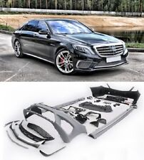 Painted Mercedes W222 S class S65 AMG Full body kit bumper conversion+EXHAUST