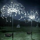 120-150led Garden Firework Starburst Stake Lamp Outdoor Solar Power Path Lights