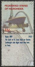 Ryan Nyp espíritu de St Louis aviones Sello de menta & Etiqueta (1999 Micronesia)