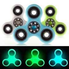 Fashion Glow Night Tri Fidget Hand Spinner Ceramic Ball Desk EDC Focus Toy US