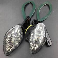 Clear LED Turn Signal light Flush Mount For 2004-2008 Honda CBR 600RR F5 1000RR