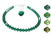 Green Heart Crystal Handmade Bracelet made with SWAROVSKI ELEMENTS
