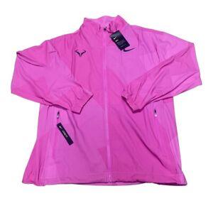 Nike Court Rafa Nadal Full Zip Dry Jacket Pink/Black AJ8257-686 Mens Size M $150