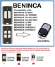 BENINCA TO.GO 2WV, TO.GO 4WV Compatible Remote Control Rolling code 433.92MHz.
