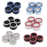 4pcs Aluminum Alloy 1.9in Tire Hub Beadlock Wheels Rims for 1/10 RC Crawler