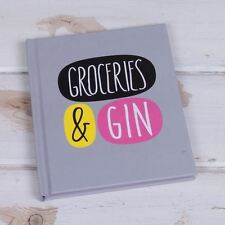 DECK CHAIR GROCERIES & GIN SMALL PERFORATED NOTE BOOK SHOPPING LIST NOVELTY GIFT