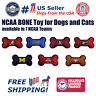 Pets First NCAA Licensed Dog Bone Toy - Heavy Duty, Tough and Squeaky Dog Toy