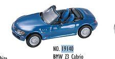 19140 Voiture collection métal BMW Z3 Convertible cabriolet décor train HO 1/87