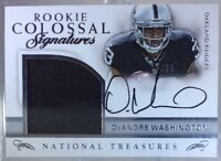 2016 National Treasures Rookie DEANDRE WASHINGTON Patch OC Auto #68/99 Raiders