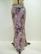 Silk Floral Regular Size Maxi Skirts for Women