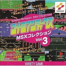 KONAMI ANTIQUES MSX COLLECTION Vol.3 PS Import Japan