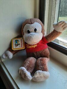 "Curious George Beanie Soft Plush 8"" Applause Stuffed Animal Monkey Toy beanbag"