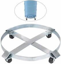 55 Gallon Heavy Duty Drum Dolly With Swivel Casters 1000 Lb Capacity Barrel Cart