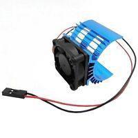 Cooling Fan & Aluminum Heatsink for 1:10 HSP RC Car 540 550 3650 Size Motor