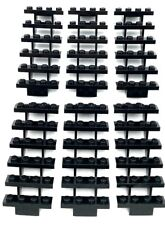 LEGO LOT OF 6 NEW BLACK STEPS STAIRS 7 X 4 X 6 STRAIGHT OPEN PIECES