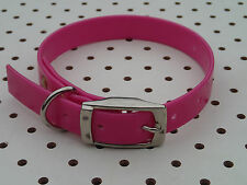 "TERRIER, WHIPPET Dog Collar 16""x3/4""  - Hunting, Hound, Fox, Pig dog, Pet PINK"