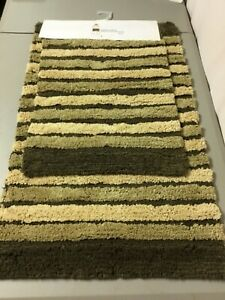 Chesapeake Merchandising Yarn Dyed 2 pc. Bath Mat Rug Set Brown Multi #55V