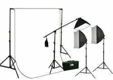 2700 Watt Photography Video Continuous Film Light 10 x 12 White Muslin Backdrop
