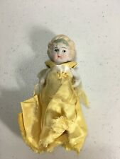 Vintage 5.25� Bisque Doll With Jointed Arms Blonde Hair, Made in Japan