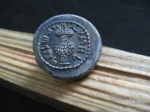 TEMPLE BAR KOKHBA REVOLT JUDAEA 133-134 AD SILVER SHEKEL TETRADRACHM 12,10 gr.