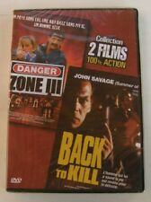 DVD 2 films 100% action - BACK TO KILL / DANGER ZONE III - NEUF