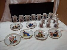 Norman Rockwell Bells, Plates, Cups Lot of 19 Pieces 1982,84,85