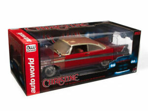 Auto World CHRISTINE 1958 PLYMOUTH FURY (PARTIALLY RESTORED) 1:18 Scale