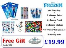 6 Pack Frozen Pre-Filled Party/Loot Bag Toys for Kids Party/Birthday + Free Gift