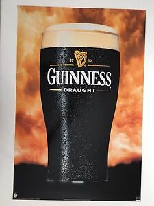 GUINESS DRAUGHT,RARE AUTHENTIC LICENSED 1990's POSTER