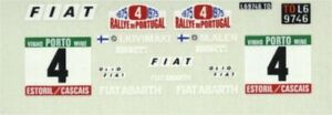Fiat 124 Abarth - Winner Rally de Portugal 1975 - Markku Alen - Decal