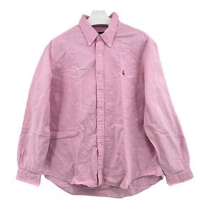 Ralph Lauren Size Men's Size 2XL XXL Cotton Pinpoint Oxford Pink Dress Shirt