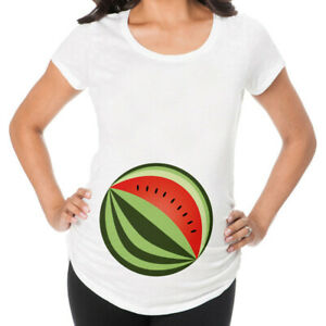 Women Watermelon Pattern Maternity Tops Pregnancy Short Sleeve Summer T-Shirt