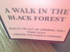 A WALK IN THE BLACK FOREST    BRAND NEW !!  PIANOLA  PLAYER PIANO ROLL