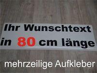 Wunschtext Aufkleber Auto Domain Beschriftung Schriftzug 80cm mehrzeilig !