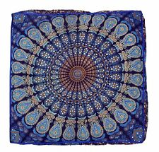 "Indian Meditation Bohemian 35"" Mandala Large Size Floor Pillow Ottoman Cover"