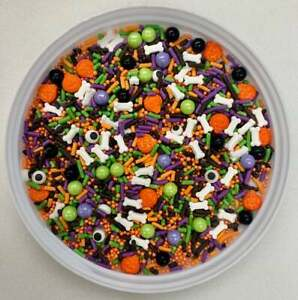 Boo I See You Halloween Confetti Mix Edible Party Sprinkles- You Pick The Amount