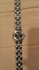 Fossil women's watch black face stainless steel silver
