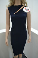 Wolford Pure Cut Dress Kleid midnight dunkelblau S Small