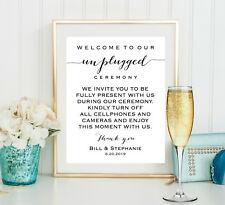 Unplugged Wedding Sign, Unplugged Ceremony Sign, Reception Sign 8x10