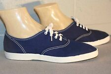 6.5 NOS Vtg 70s BLUE Pointed Toe TENNIS SNEAKER CANVAS LaCrosse SKAMPS Gym Shoe